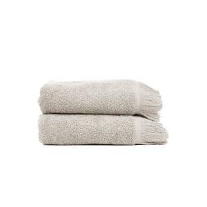 Sada 2 svetlosivých bavlnených uterákov Casa Di Bassi, 50x90cm