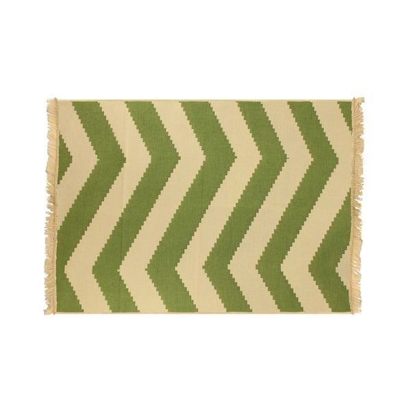 Koberec ZigZag Green Beige, 120x180 cm