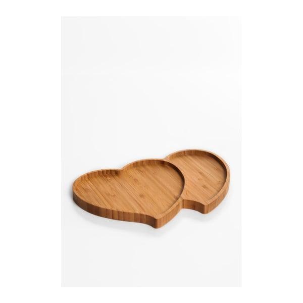 Servírovacia miska v tvare srdca Bambum Amor, 28×18cm