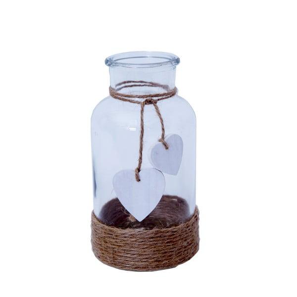 Sklenená fľaška Bolzonella so srdiečkom