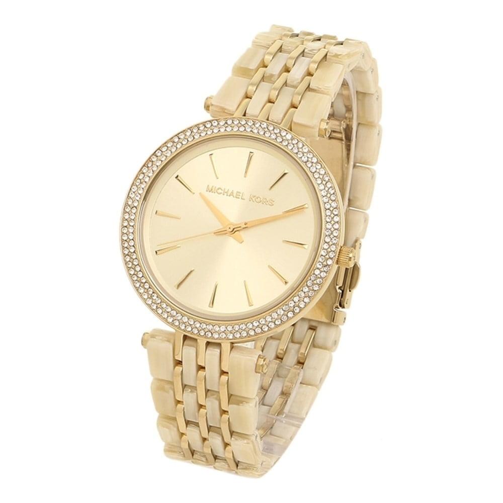 13fbdee105 Dámske hodinky v zlatej farbe lemované kamienkami Michael Kors Darci ...