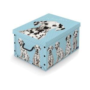 Úložný box s rukoväťou Domopak Dalmatin, dĺžka 50 cm