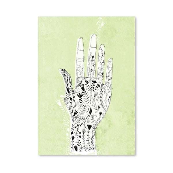 Plagát Floral Hand, 30x42 cm