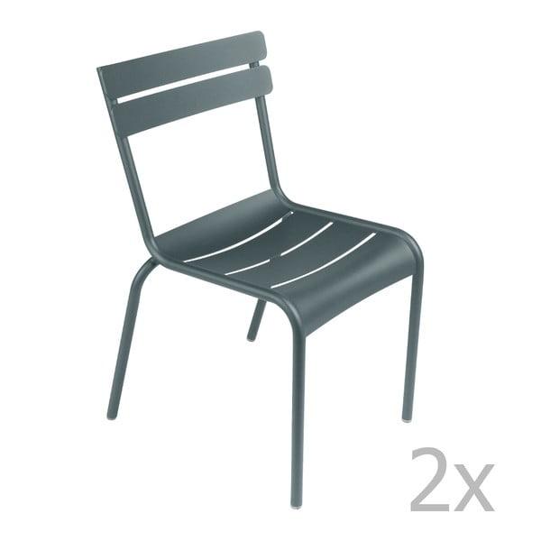 Sada 2 tmavosivých stoličiek Fermob Luxembourg