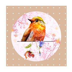 Obrázok Ewax Orange Bird, 28x28 cm