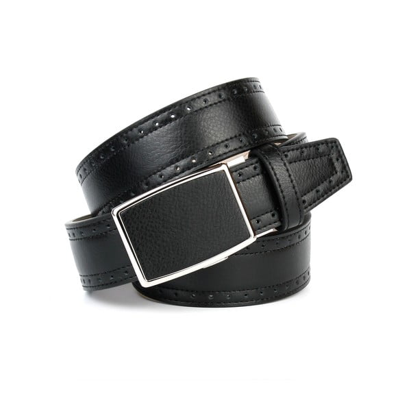 Unisex kožený opasok 18Т10H Black, 100 cm