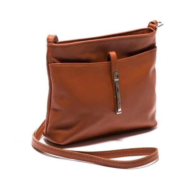 Hnedá kožená kabelka Roberta M Eugenia