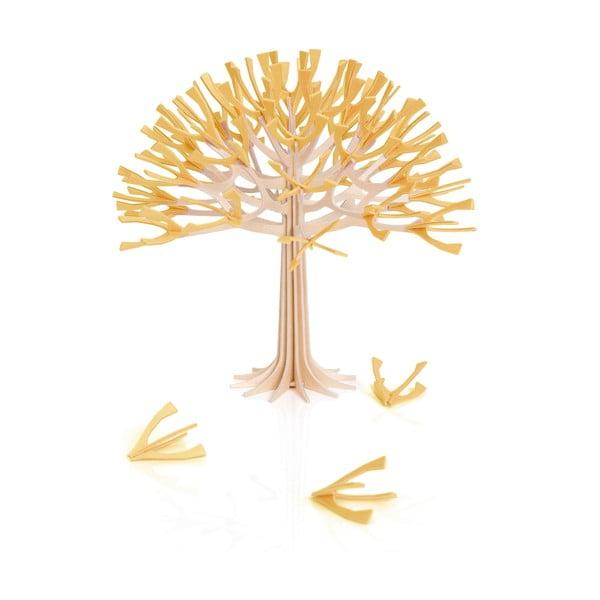 Skladacia dekorácia Lovi Season Tree Warm Yellow, 22 cm