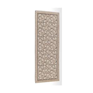 Béžový vysokoodolný kuchynský koberec Webtapetti Corazon Tortora, 55 x 115 cm