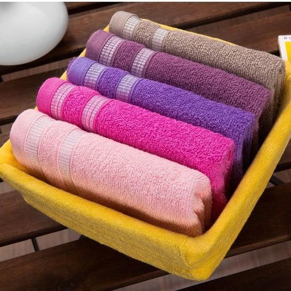 Sada 5 uterákov Yellow Basket, 30x50 cm