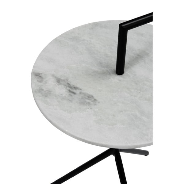 Odkladací stolík J-Line Marble Met, ⌀ 38 cm