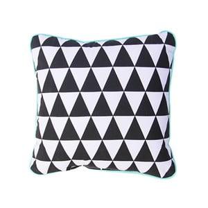 Vankúš s mentolovozeleným lemom Vigvam Design Triangles