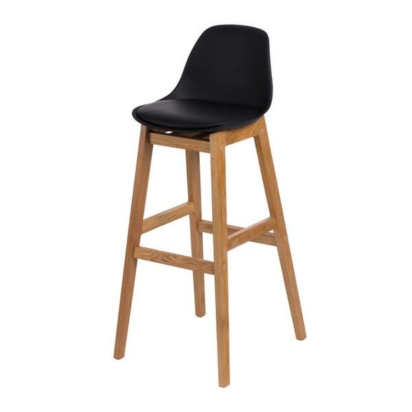 Barová stolička D2 Norden Wood, čierna