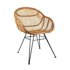 Stoličky z ratanu a železa Moycor Emilia