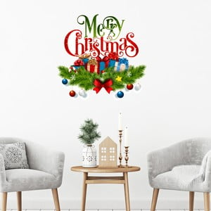 Vianočná samolepka Ambiance Merry Christmas with Snow