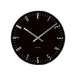 Čierne hodiny Present Time Slim