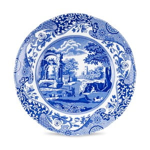 Sada 4 bielo-modrých tanierov Spode Blue Italian, ø 20 cm