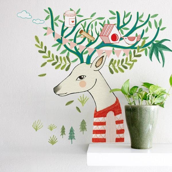 Samolepka Tree Deer, 41x57 cm