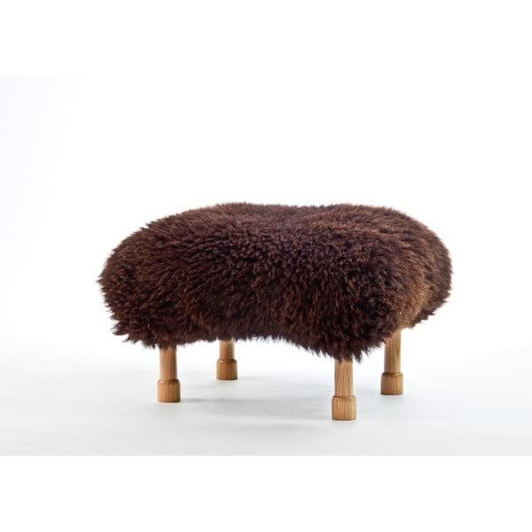 Stolička z ovčej kože Dilys Chocolate