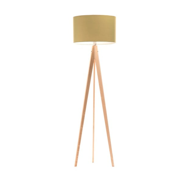 Stojacia lampa Artist Mint/Birch, 150x42 cm