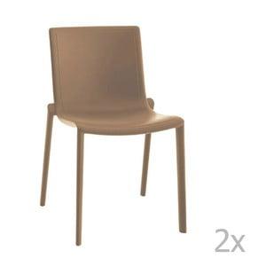 Sada 2 béžových záhradných stoličiek Resol Kat