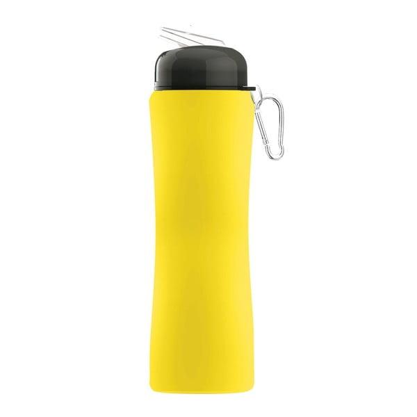 Športová fľaša Sili-Squeeze, žltá, 650 ml