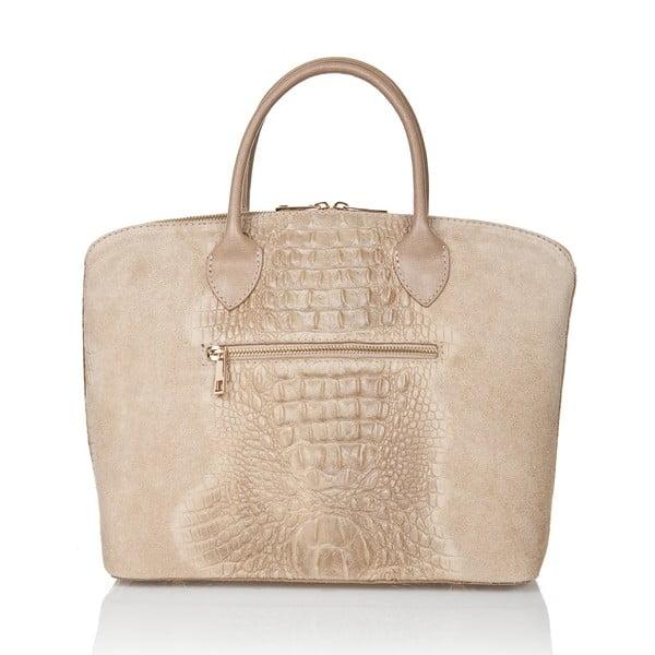 Béžová kožená kabelka Giorgio Costa Hatis