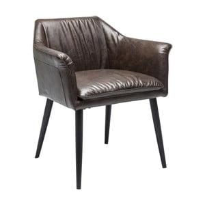Tmavohnedá jedálenská stolička Kare Design Diner