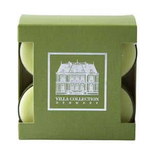 Sada 8 čajových sviečok s vôňou zeleného čaju a uhorky Villa Collection
