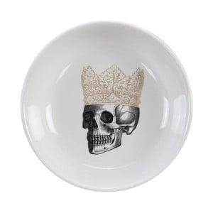 Černo-biela miska Tokyo Design Studio Skull Crown, ø 11 cm