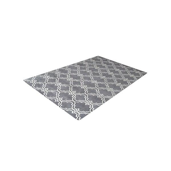 Ručne tuftovaný sivý koberec Bakero Riviera, 153 x 244 cm