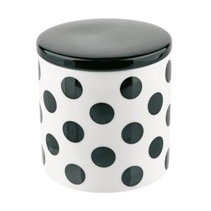 Dóza s vrchnákom Miss Étoile Big Black Dots, 11,5 cm