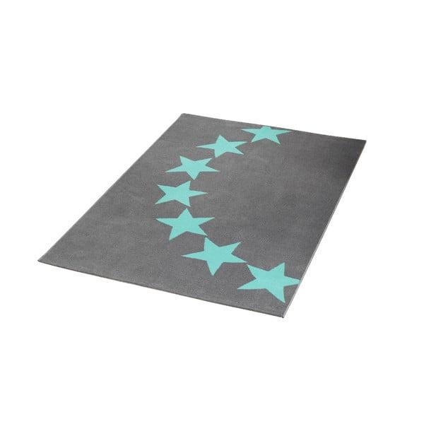 Detský sivý koberec s modrými detailmi koberec Hanse Home Star, 140×200cm