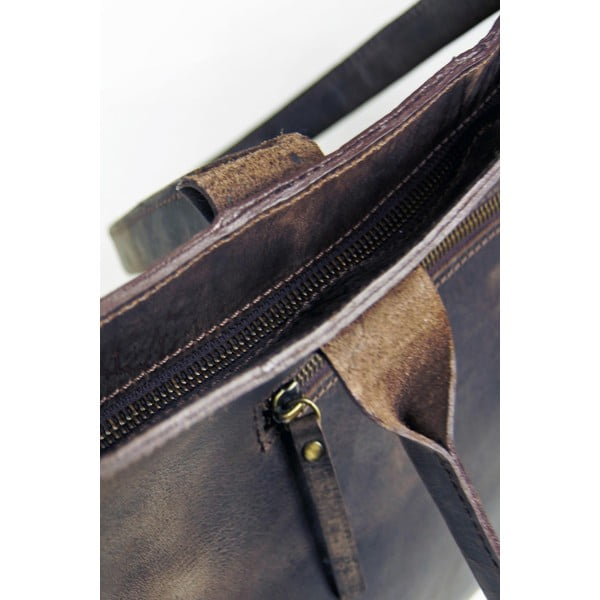 Tmavohnedá kožená vintage kabelka O My Bag Madam Rose