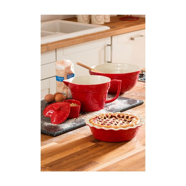 Červená zapekacia misa Premier Housewares Sweet Heart, 20 x 35 cm