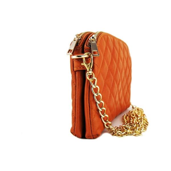 Kožená listová kabelka Gialina Cognac