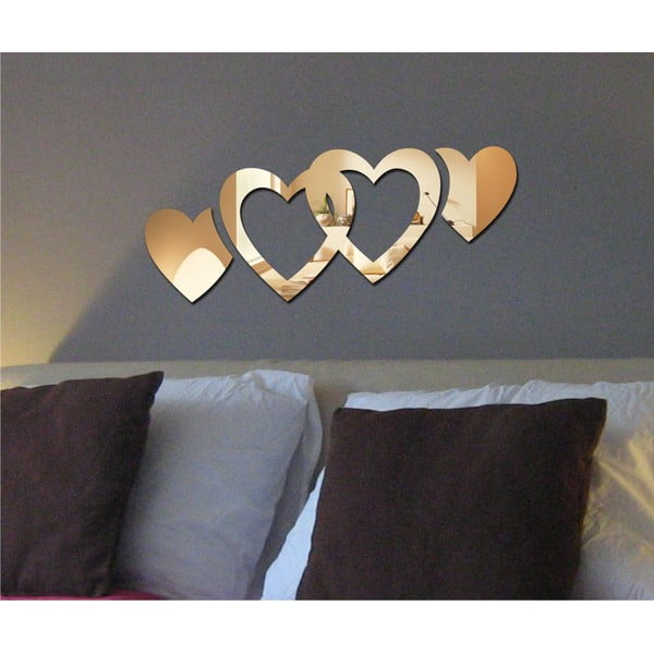 Dekorativní zrcadlo Double Hearts