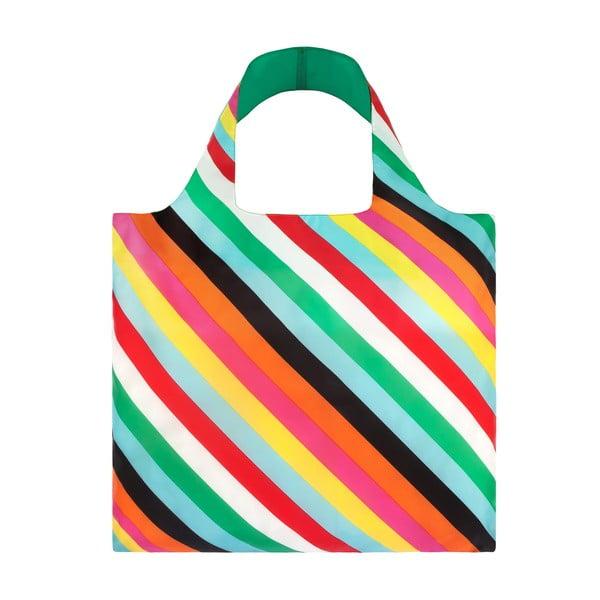 Skladacia nákupná taška skapsičkou LOQI Stripes