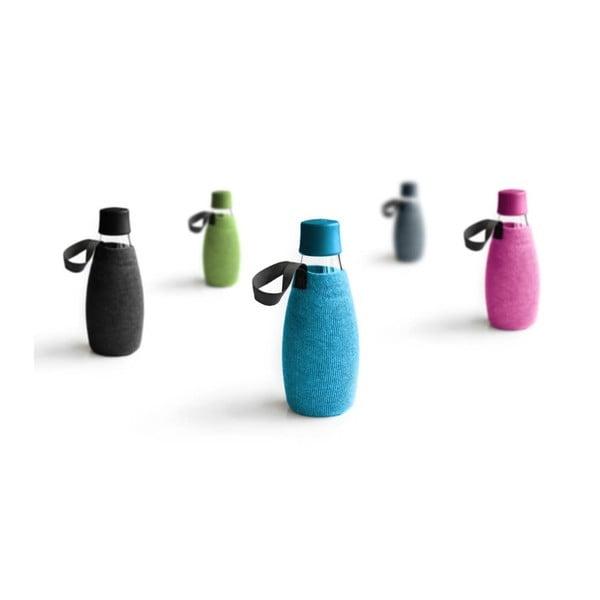 Svetlomodrý obal na sklenenú fľašu ReTap s doživotnou zárukou, 500ml