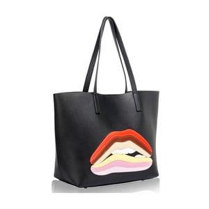 Čierna kabelka L & S Bags Lip