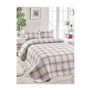 Set béžovej bavlnenej prikrývky cez posteľ a 2 obliečok na vankúše Harro Mento, 200×220 cm