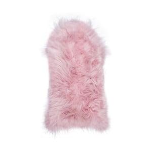 Svetloružová ovčia kožušina s dlhým vlasom Arctic Fur Ptelja, 100 × 55 cm