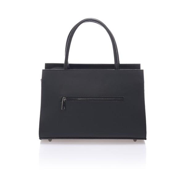 Čierna kožená kabelka Lisa Minardi Francesca