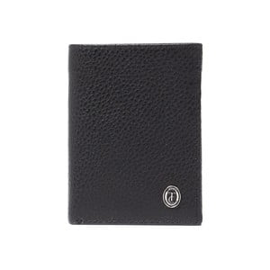 Čierna pánska kožená peňaženka Trussardi Symbiosis, 12,5 × 9,5 cm
