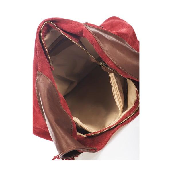 Kožená kabelka Maya, červená