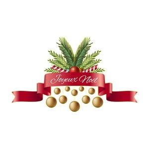 Vianočná samolepka Ambiance Merry Christmas Ribon