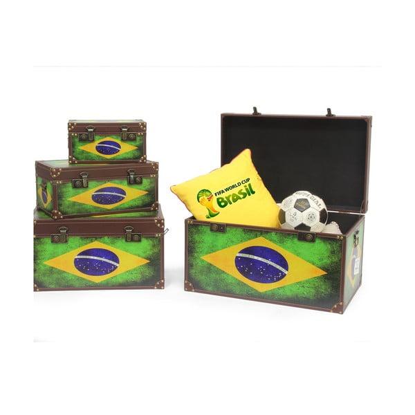 Sada 4 boxov Baule Brazil