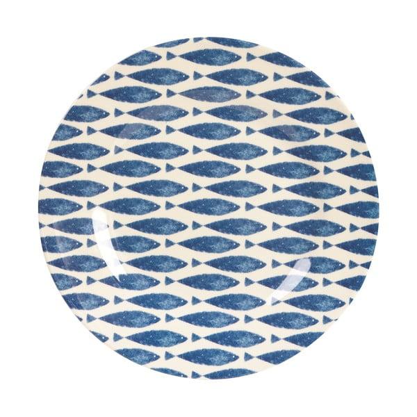 Melamínový tanier Couture Fishie, 25.4 cm