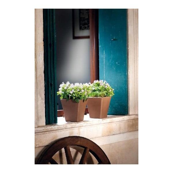 Keramický kvetináč Liscio 19 cm, moka