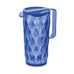 Modrý plastový džbán Tantitoni Crystal, 1,6 l